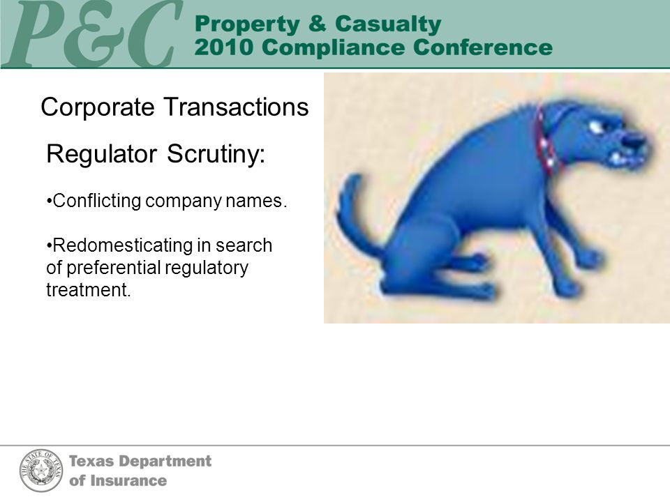 Corporate Transactions Regulator Scrutiny: Conflicting company names.