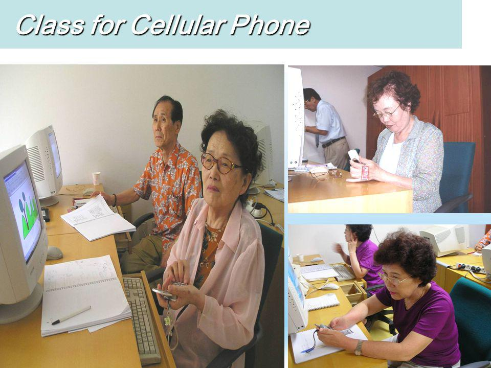 Class for Cellular Phone Class for Cellular Phone