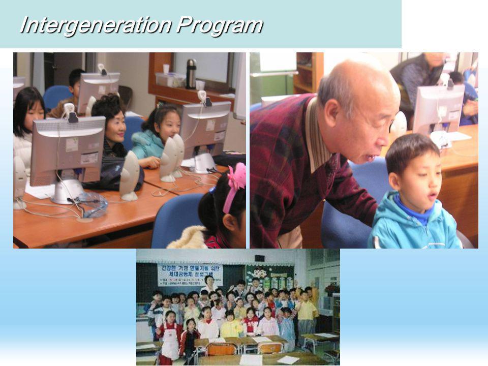 Intergeneration Program Intergeneration Program