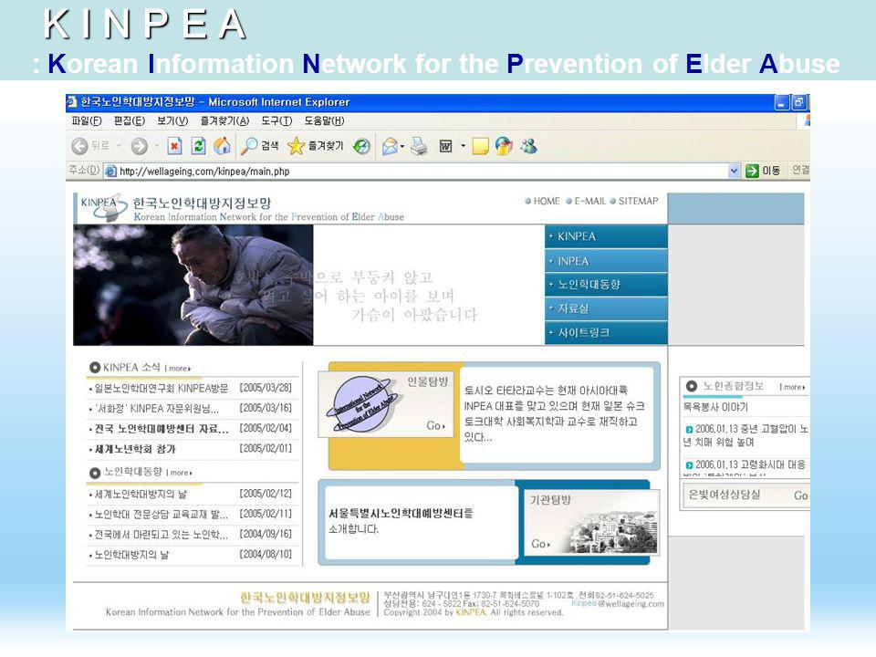 K I N P E A K I N P E A : Korean Information Network for the Prevention of Elder Abuse
