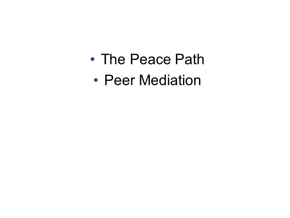 The Peace Path Peer Mediation