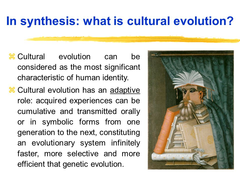 In synthesis: what is cultural evolution.
