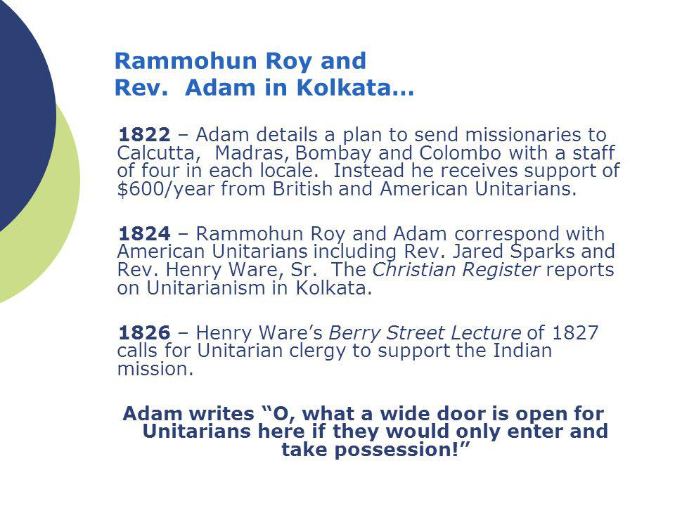 Rammohun Roy and Rev.