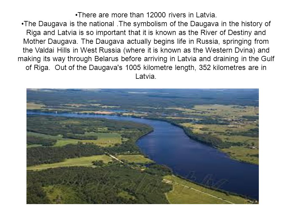 There are more than 12000 rivers in Latvia.