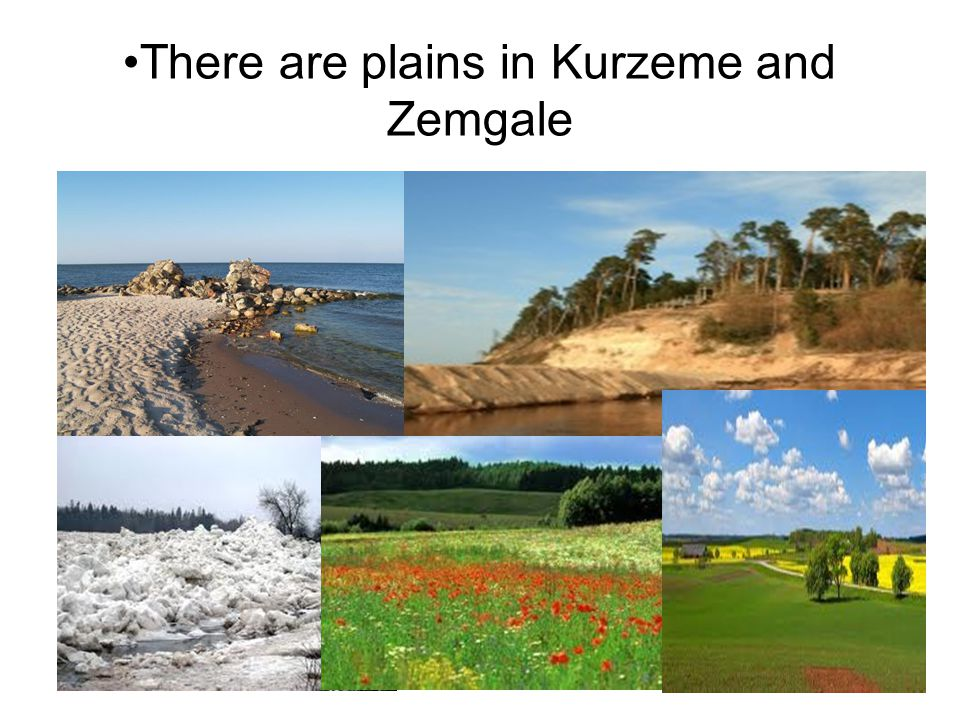 There are plains in Kurzeme and Zemgale