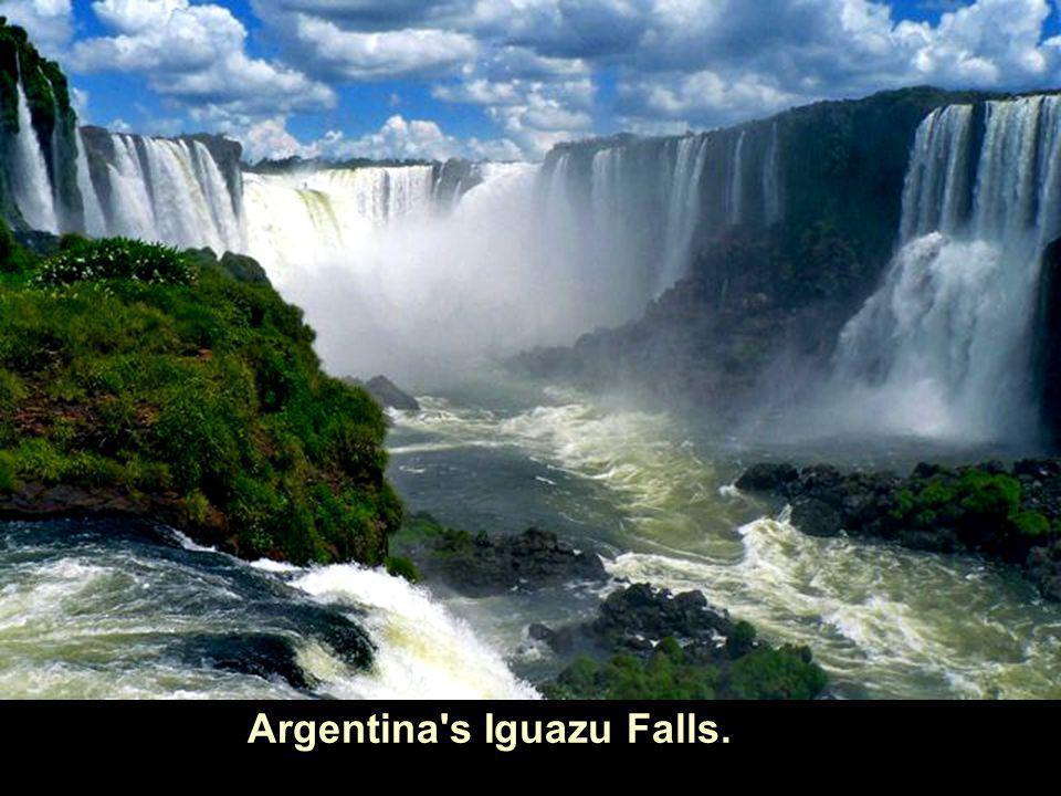 Argentina s Iguazu Falls.