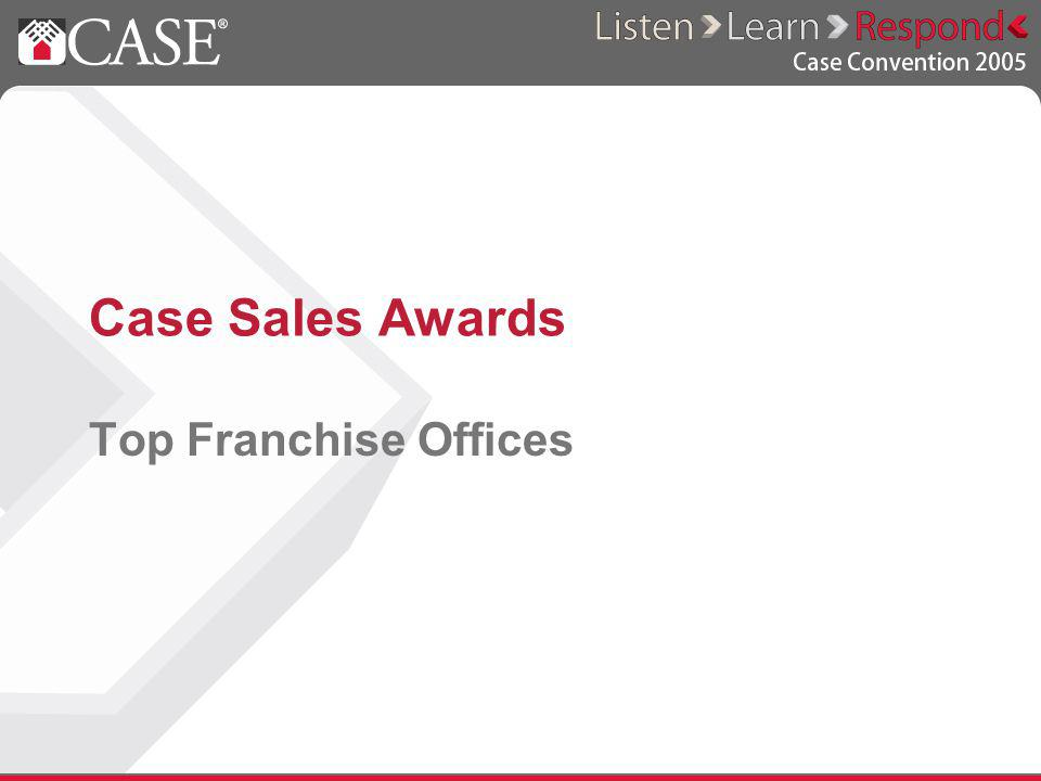 Case Sales Awards Top Franchise Offices