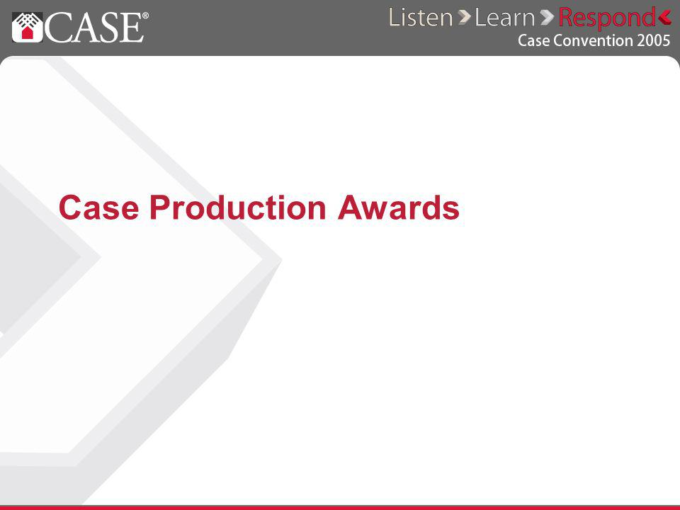 Case Production Awards