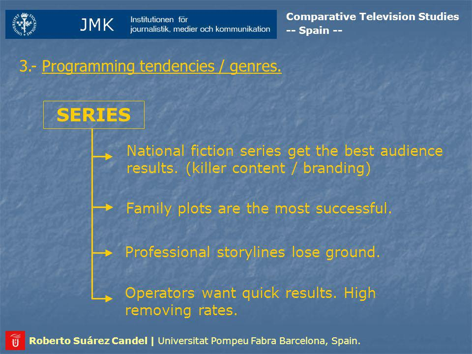 Comparative Television Studies -- Spain -- Roberto Suárez Candel | Universitat Pompeu Fabra Barcelona, Spain.