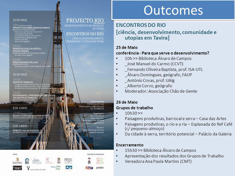 ENCONTROS DO RIO [ciência, desenvolvimento, comunidade e utopias em Tavira] 25 de Maio conferência - Para que serve o desenvolvimento.