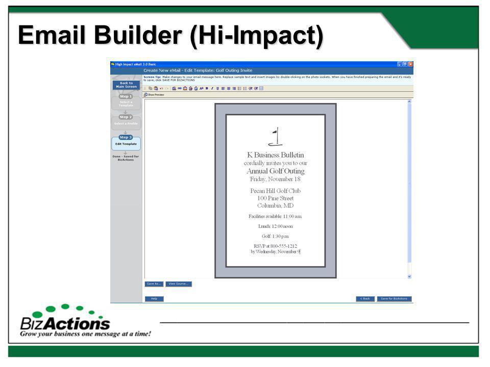 Email Builder (Hi-Impact)