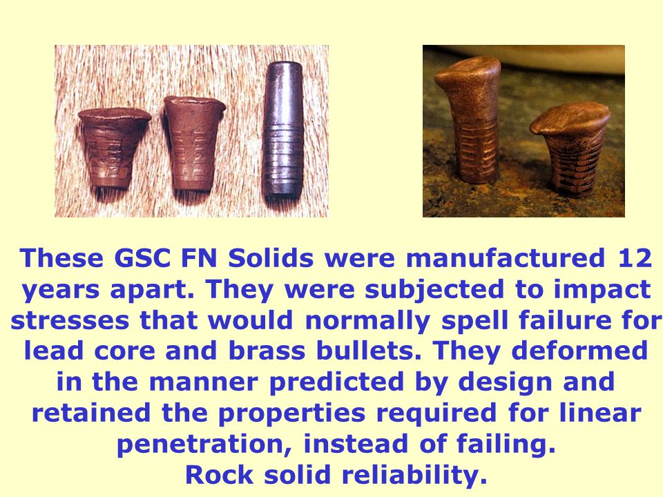 These GSC FN Solids were manufactured 12 years apart.