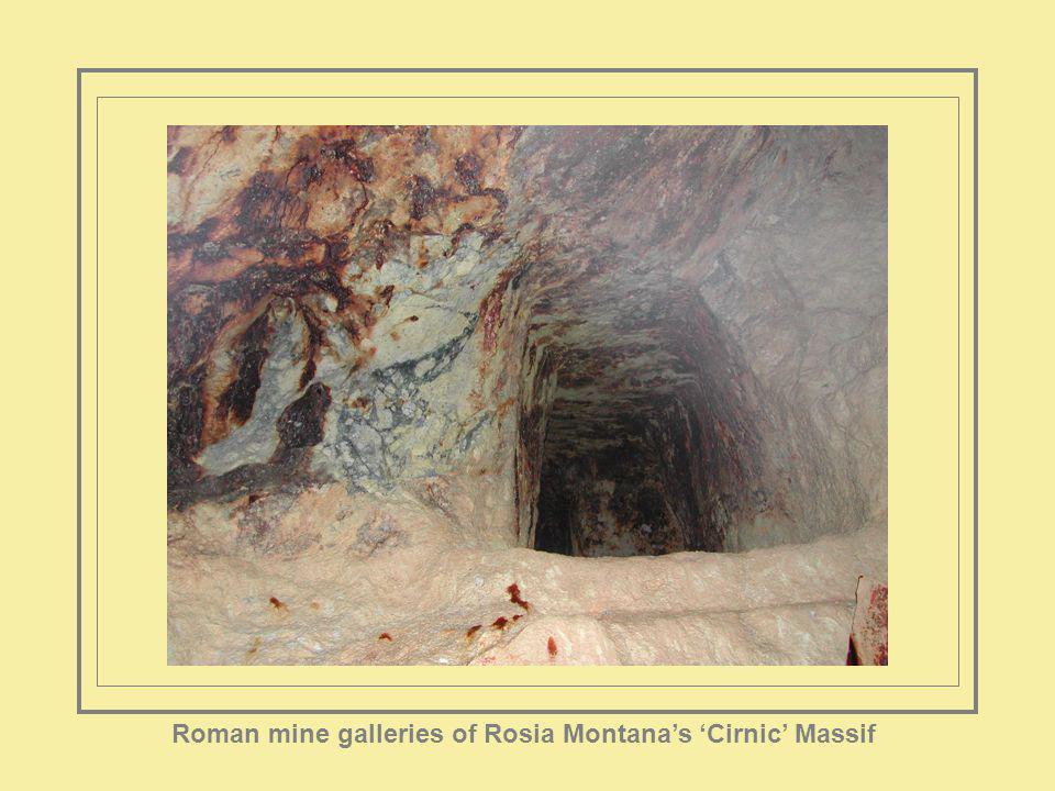 Roman mine galleries of Rosia Montanas Cirnic Massif