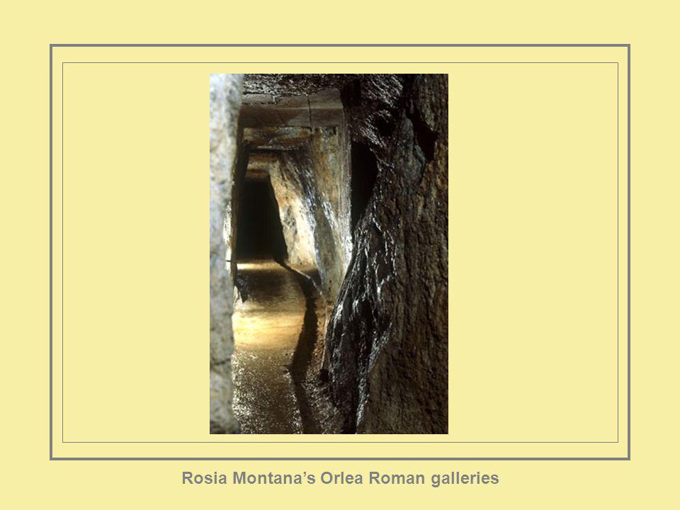 Rosia Montanas Orlea Roman galleries