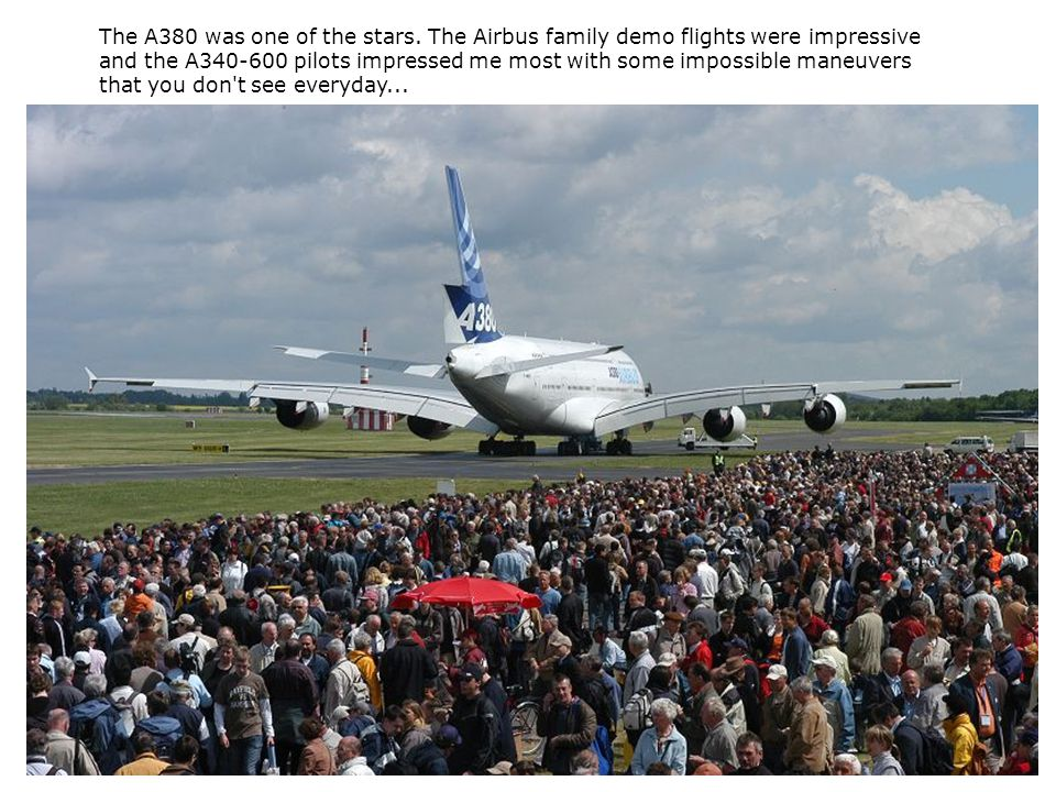 The A380 was one of the stars.