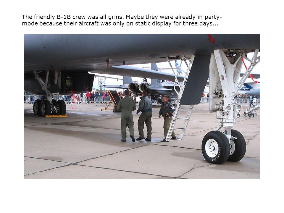 The friendly B-1B crew was all grins.