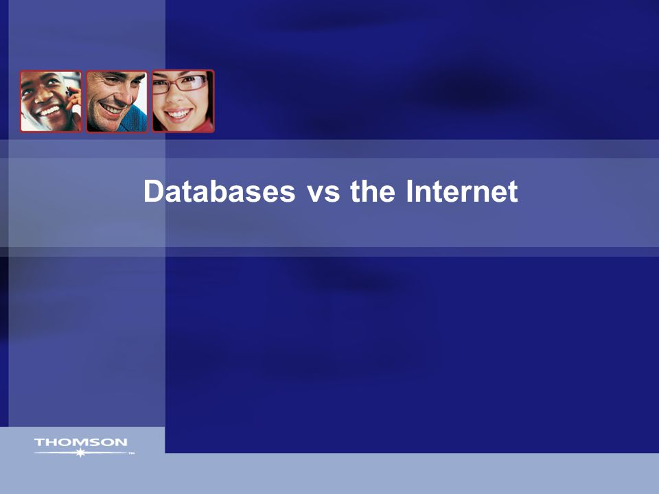 Databases vs the Internet