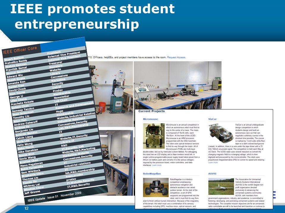 IEEE promotes student entrepreneurship 12