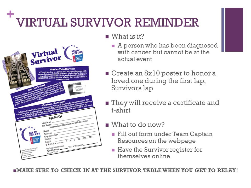 + VIRTUAL SURVIVOR REMINDER What is it.