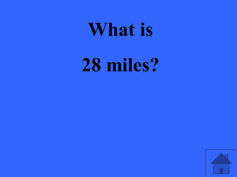 What is 28 miles