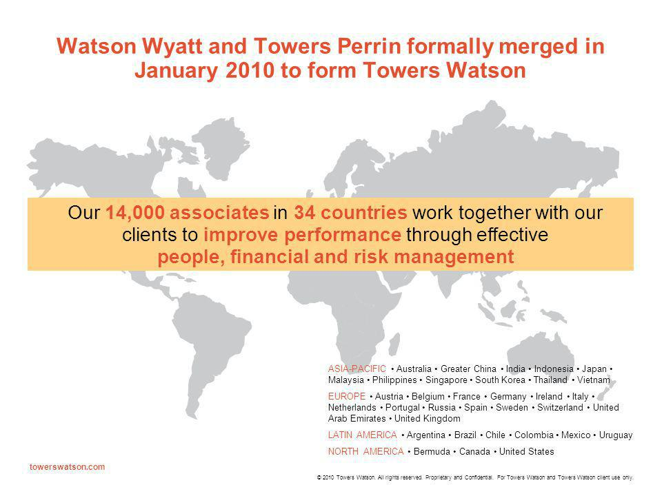 © 2010 Towers Watson.All rights reserved. Proprietary and Confidential.