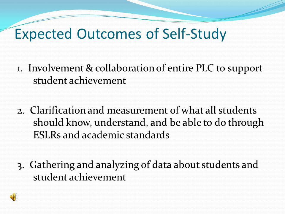 Expected Outcomes of Self-Study 1.