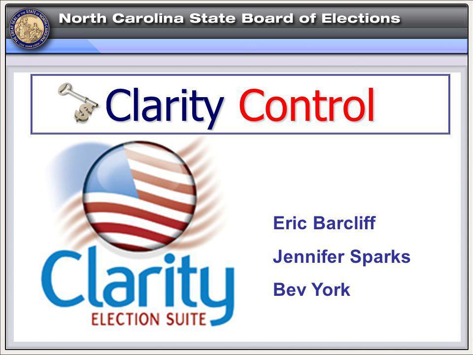 Eric Barcliff Jennifer Sparks Bev York Clarity Control