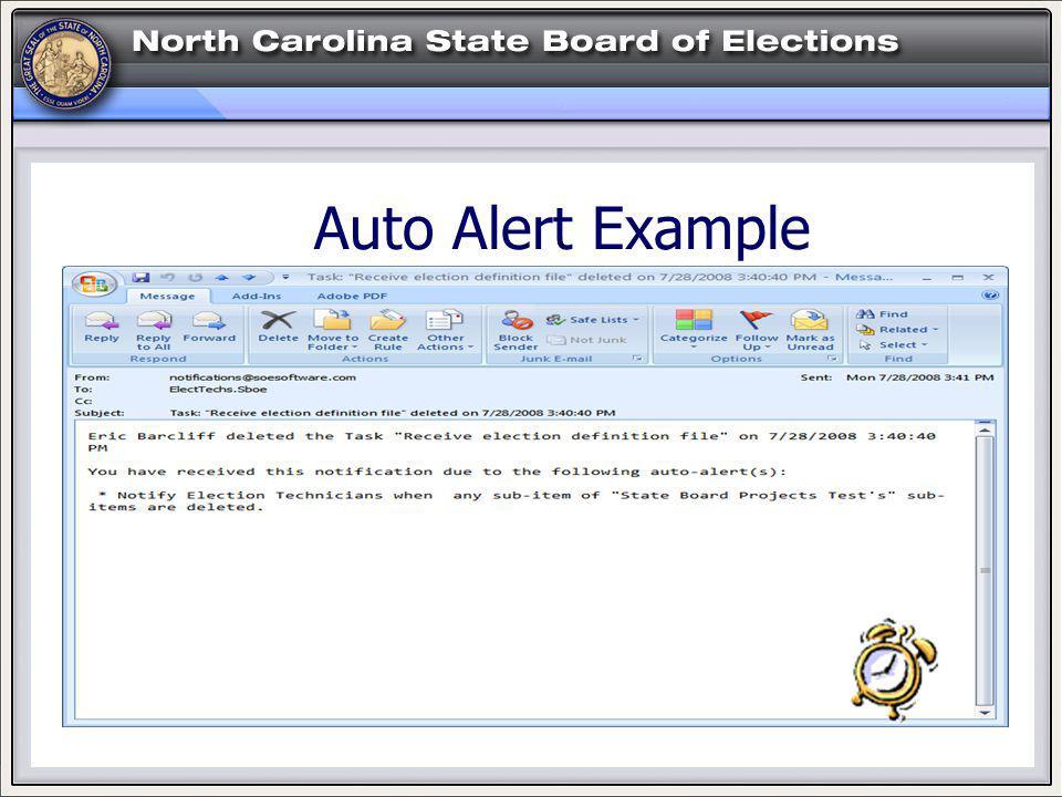 Auto Alert Example