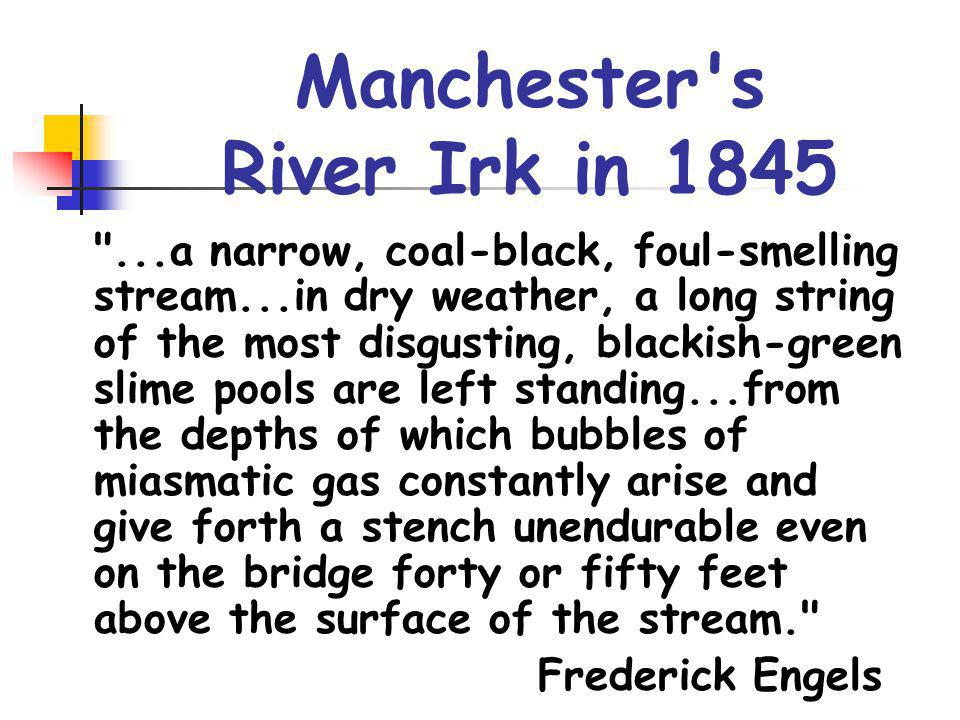 Manchester, 1859 Earth and air seem impregnated with fog and soot.