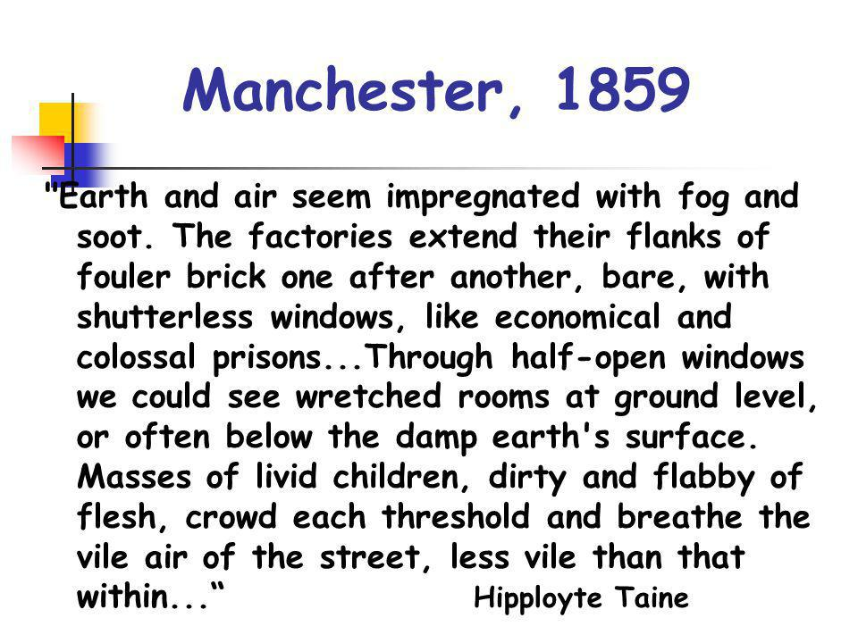 The health impact Life expectancy for mechanics and labourers in Manchester in 1842 was 17 years