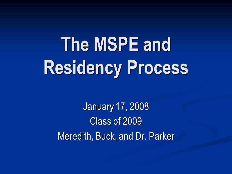 How does the MSPE process work.
