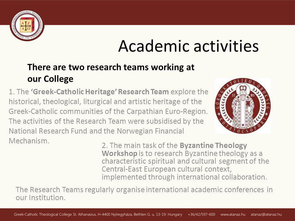 Academic activities 1.