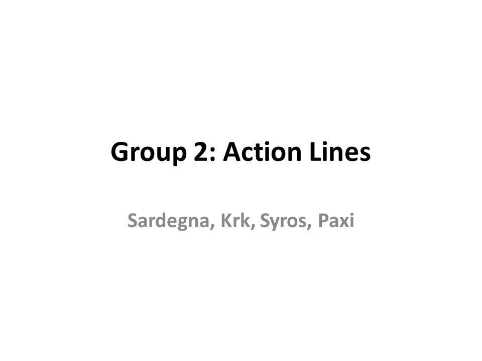 Group 2: Action Lines Sardegna, Krk, Syros, Paxi