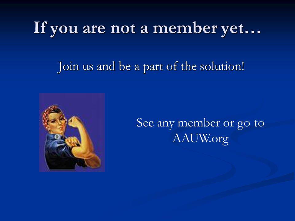 If you are not a member yet… Join us and be a part of the solution.