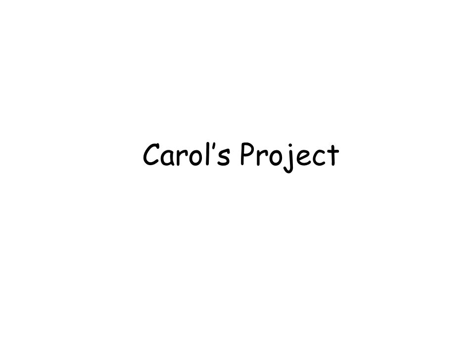 Carols Project