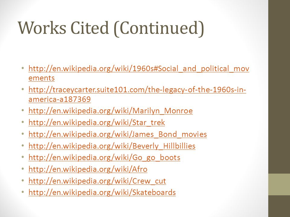 Works Cited (Continued)   ements   ements   america-a america-a