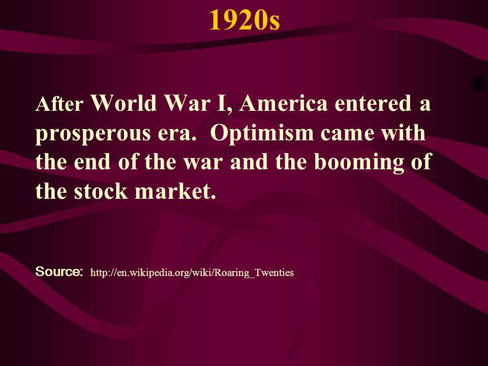 1920s - FACTS Average annual earnings was: $1236.