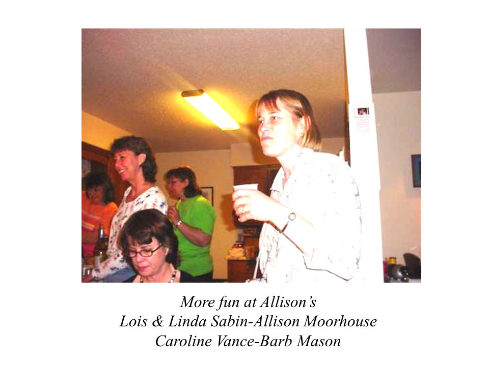 Sharing memories at Allisons