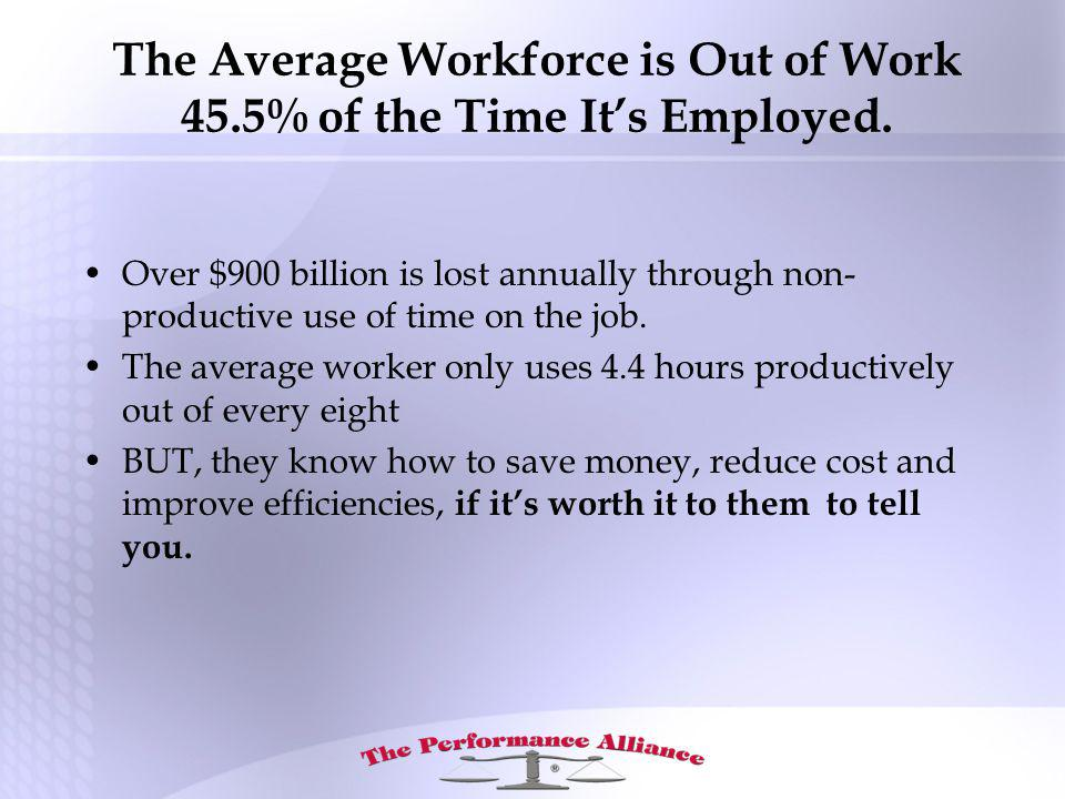 The Average Workforce is Out of Work 45.5% of the Time Its Employed.