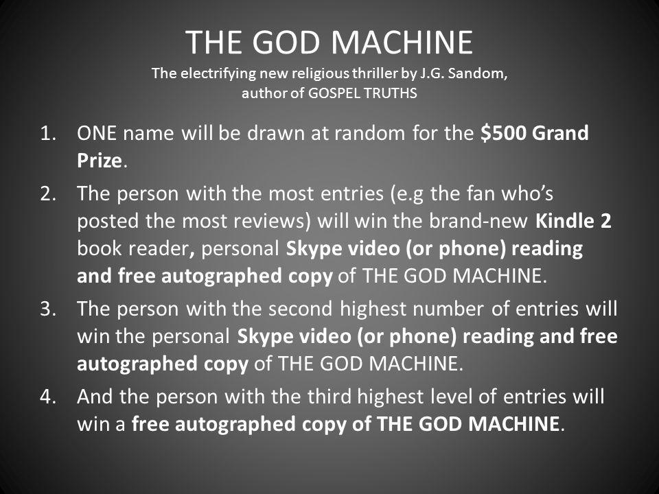 THE GOD MACHINE The electrifying new religious thriller by J.G.