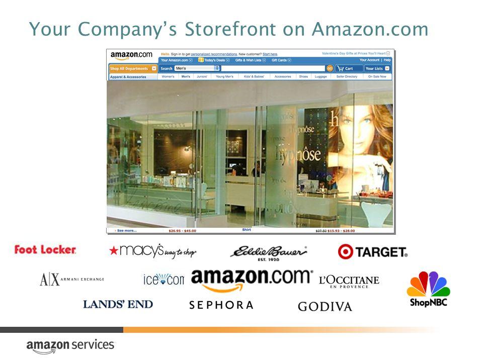 Your Companys Storefront on Amazon.com