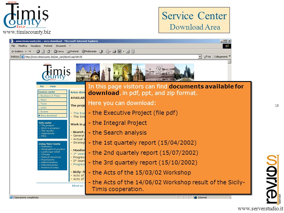 In this page visitors can find documents available for download, in pdf, ppt, and zip format.