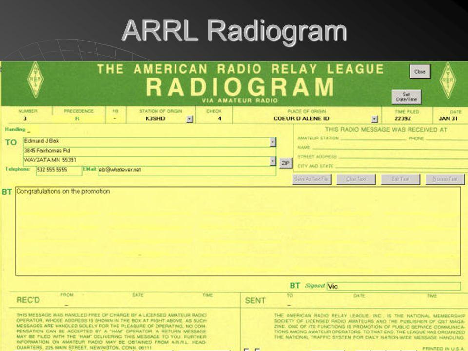 51 ARRL Radiogram