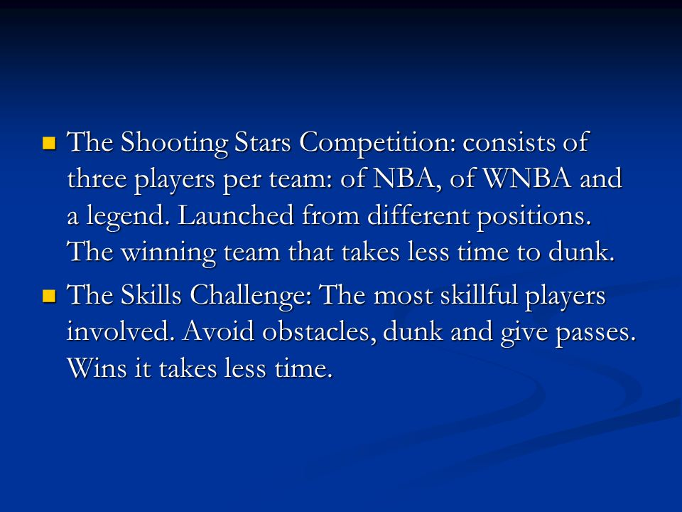 The Slam Dunk Contest: It is the most spectacular.
