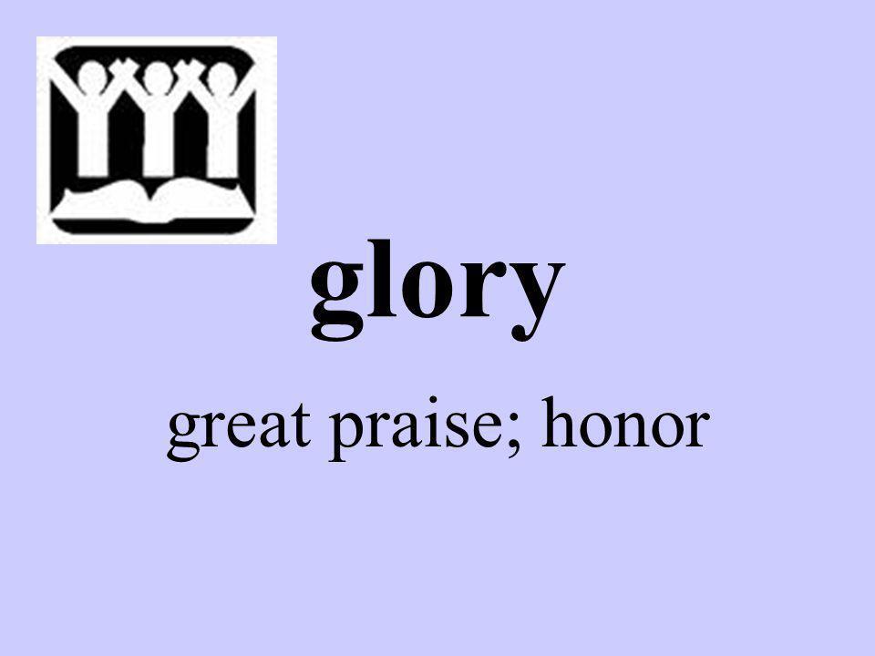 glory great praise; honor