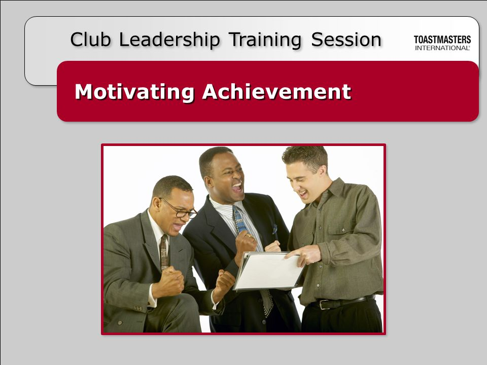 Motivating Achievement Club Leadership Training Session