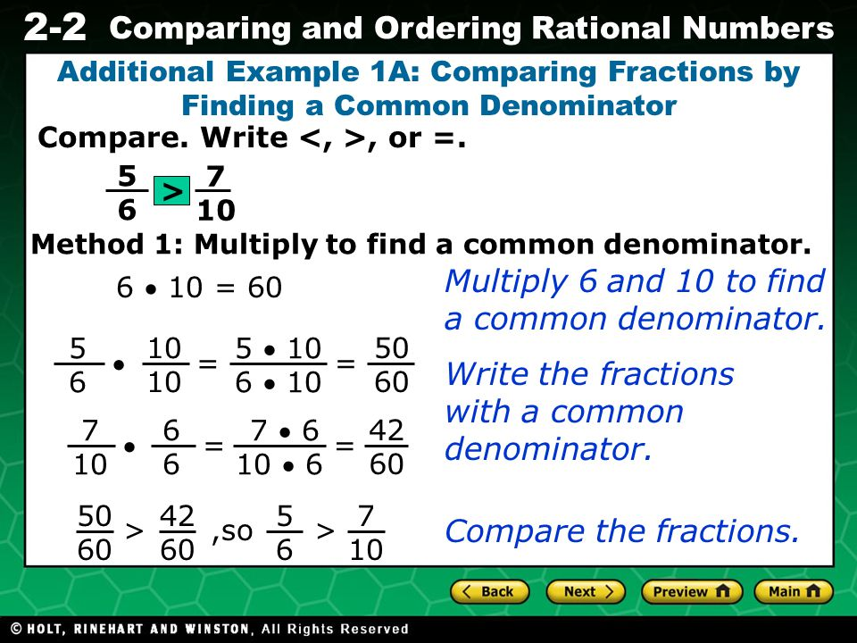 Evaluating Algebraic Expressions 2-2 Comparing and Ordering Rational Numbers Remember.