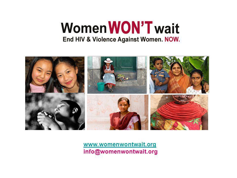 www.womenwontwait.org info@womenwontwait.org