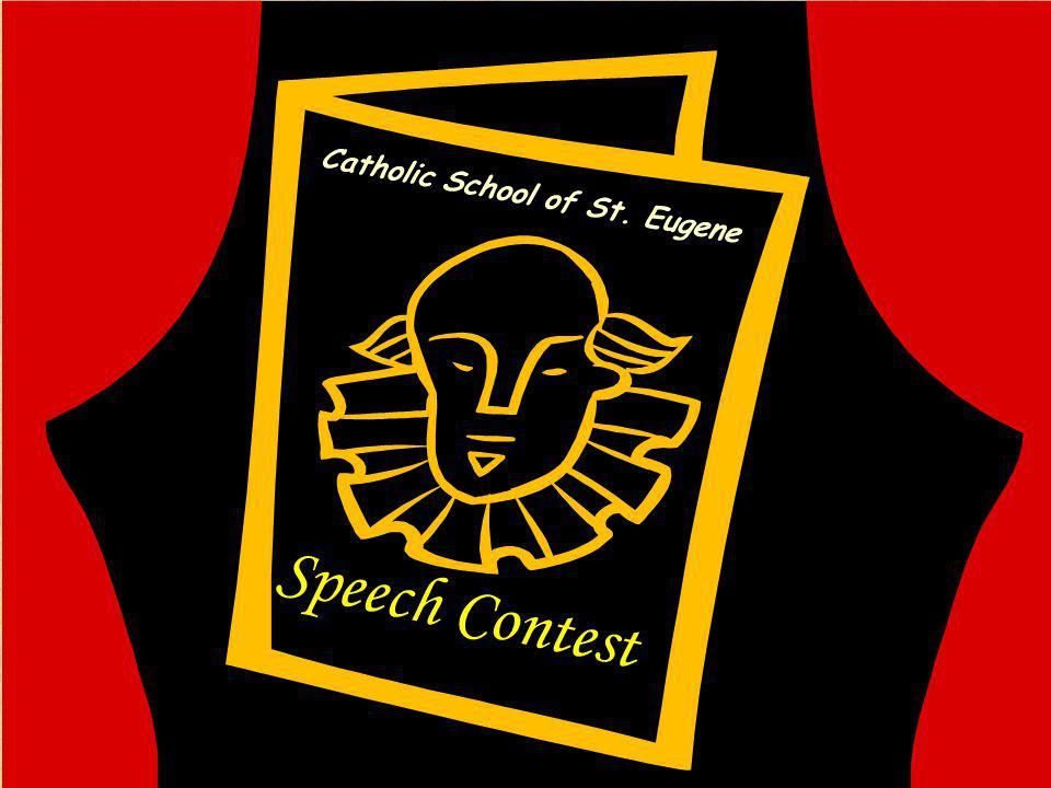 Speech Contest Catholic School of St. Eugene