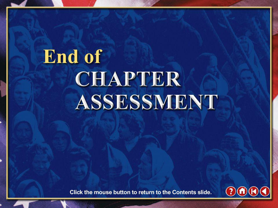 Chapter Assessment 12 Click the mouse button or press the Space Bar to display the answer.